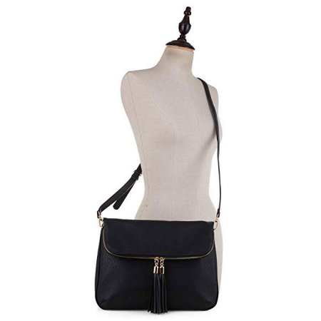 Crossbody Clutch/Purse Concealed Carry Handbag GF180 Blk