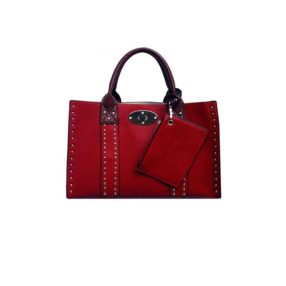 Studded Leather Concealed Carry Purse